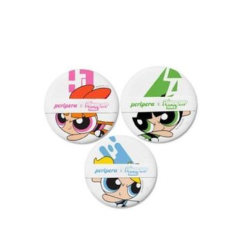 [PERIPERA] Powerpuff Girls Cushion Puff 3ea (Powerpuff Girls Collabo)