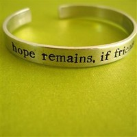 Hope Remains Cuff Bracelet - Lord of the Rings - Spiffing Jewelry