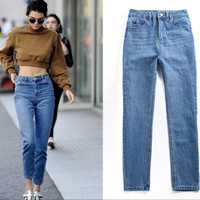 Cute Blue High waist jeans