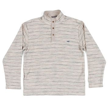 Pawleys Striped Rope Pullover in Oatmeal by Southern Marsh
