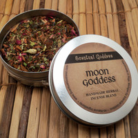 MOON GODDESS INCENSE - Handmade Herbal Mixture of Herbs, Oils, Woods & Resins to Burn on Charcoal Disks - Magical Altar Loose Incense