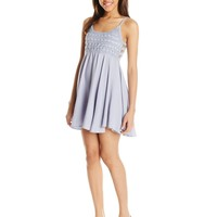 O'Neill Juniors Kinley Woven Tank Dress with Crochet Bodice