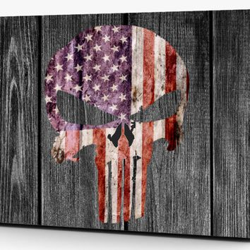 Punisher Distressed American Flag Subdued Vinyl Laptop Computer Skin Sticker Decal Wrap Macbook Various Sizes