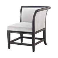 Ostrava Chair In Black And Silver Black,Silver
