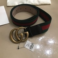 Gucci Web belt with Double G buckle Sz105-42