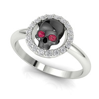 Skull Engagement Ring US Company Best Price of the Year