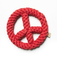 Jax and Bones Womens Peace Sign Rope Dog Toy