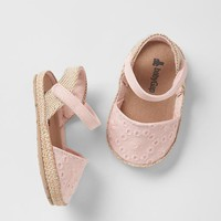 Eyelet espadrille sandals | Gap