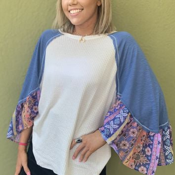 Blooming Into Spring Top- Ivory