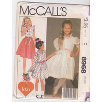 McCalls 8968 girls party or summer dress sewing pattern size 7 UNCUT
