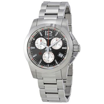 Longines Conquest Chronograph Grey Dial Mens Watch L3.700.4.79.6
