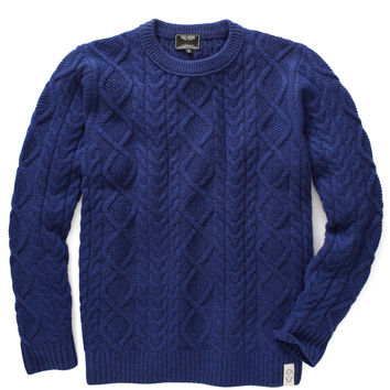 Todd Snyder Japan Fisherman's Sweater in Indigo