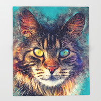 cat Friday #cat #cats #animals Throw Blanket by jbjart