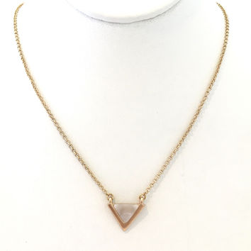 Stone Age Triangle Pendant Necklace