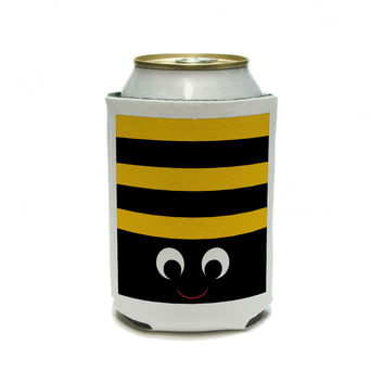 Bumble Bee Party - Girl Birthday Can Cooler Drink Insulator Beverage Insulated Holder