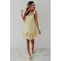 Sunshine Beauty Dress: Dusty Yellow/Ivory