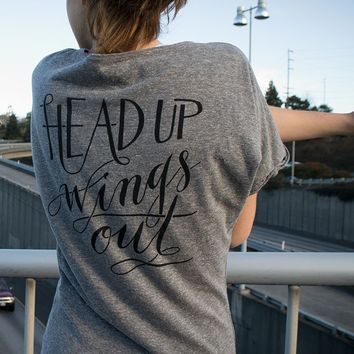Dolman Head Up, Wings Out Tee | Oiselle Running Apparel for Women