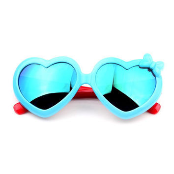 2017 Fashion Boys Girls Heart Mirror Kids Sunglasses Summer UV400 Vintage Sun Glasses Children Eyewear