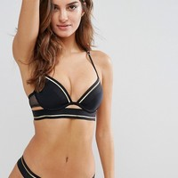 River Island Plunge Cut Out Bikini at asos.com