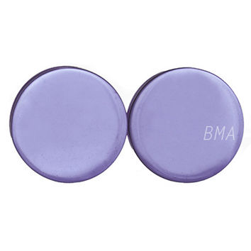 "Light Purple Glass Plugs ( 3mm-25mm) (8g-1"")"