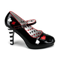 Funtasma Queen of Hearts Contessa Ankle Strap Pumps