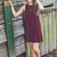 Oh My Darling Dress in Burgundy