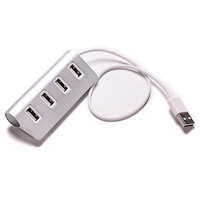 High Speed 4-Port USB 2.0 Hub Aluminum Cable For PC Laptop Notebook Macbook 3CAU