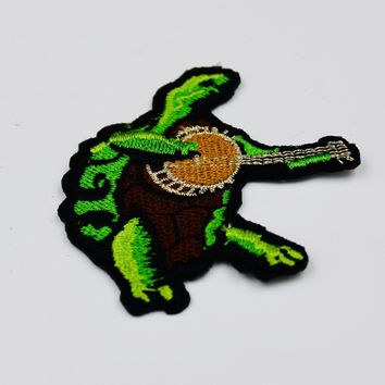 Grateful Dead Terrapin Banjo Patch Embroidered Iron On Patches