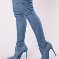 Denim Daze Boot - Denim