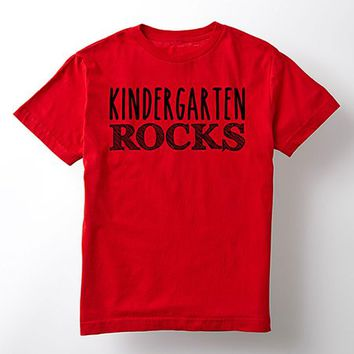 Red 'Kindergarten Rocks' Tee - Toddler & Kids