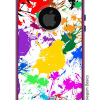 OTTERBOX Commuter iPhone 5 5S 5C 4/4s Samsung Galaxy S3 S4 S5 Note 2 3 Case Paint Splatter Coloful Fashion Series Collection