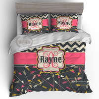 Personalized Arrows Bedding Set