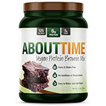 About Time Protein Brownie Mix 1.5lb - Gluten Free, Dairy Free, Soy Free, 6 grams of Protein, 5 grams of Fiber