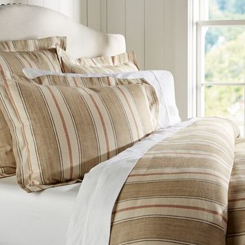 Joshua Stripe Duvet Cover & Sham - Neutral | Pottery Barn