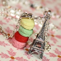 American Girl in Paris Necklace Colorful Macaroons by tinytongue
