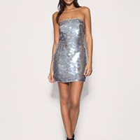 ASOS | ASOS PREMIUM Mermaid Sequin Bandeau Dress at ASOS