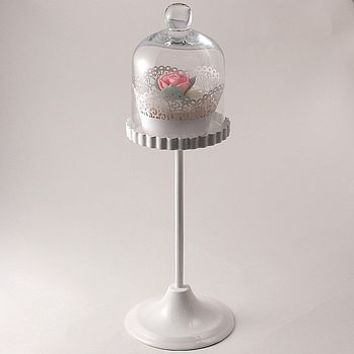Very Tall Glass Dome Cupcake Stand