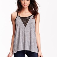 Old Navy Womens Lace Inset Camis