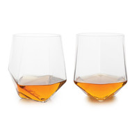 Seneca: Faceted Crystal Tumblers (Set of 2)