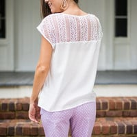 Glee Who You Want Top, White