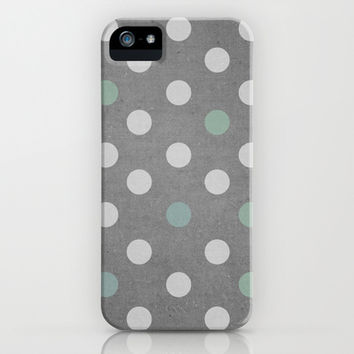 Concrete & PolkaDots iPhone & iPod Case by no.216