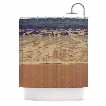 "Violet Hudson ""Ombre Beach"" Brown Blue Shower Curtain"