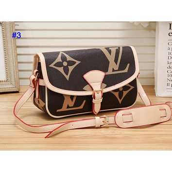 LV hot seller of fashion contrast color printed casual lady shopping shoulder bag #3