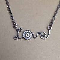 Bullet jewelry. Love. Bullet necklace.