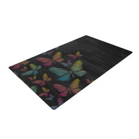 "Snap Studio ""Butterflies"" Pastel Chalk Woven Area Rug"