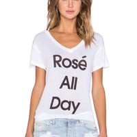 Rose All Day Tee in Clean White