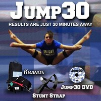 Kbands Cheer Bands (Cheer Resistance Bands, Stunt Strap, and Jump30 DVD) (User is More Then 110 Ibs)