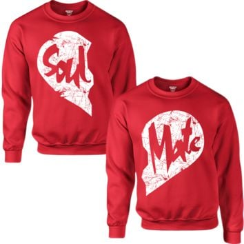 SOUL AND MATE COUPLE SWEATSHIRT