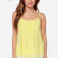 LULUS Exclusive Bel Air Baby Yellow Tank Top