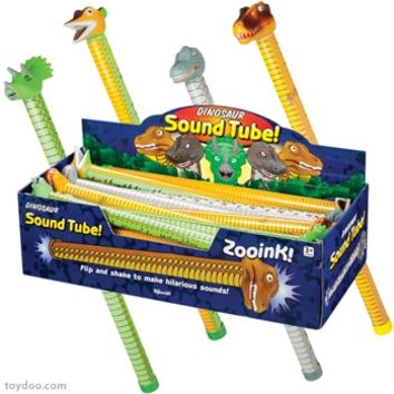Dinosaur Sound Tubes - Toysmith - Pack of 24 ea